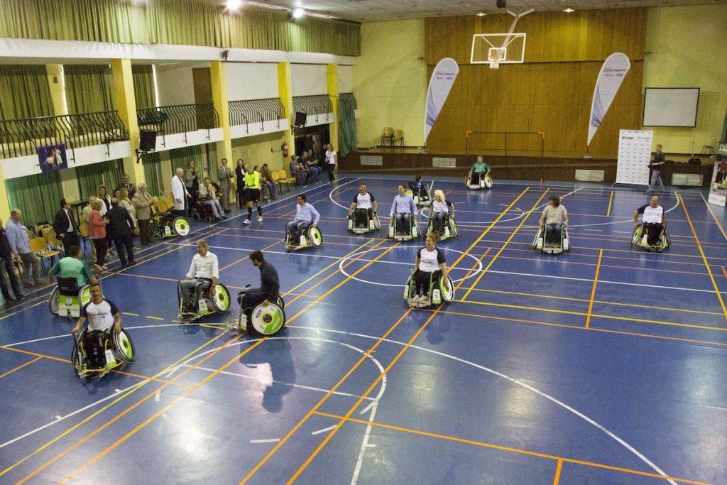 futbol en silla de ruedas electrica