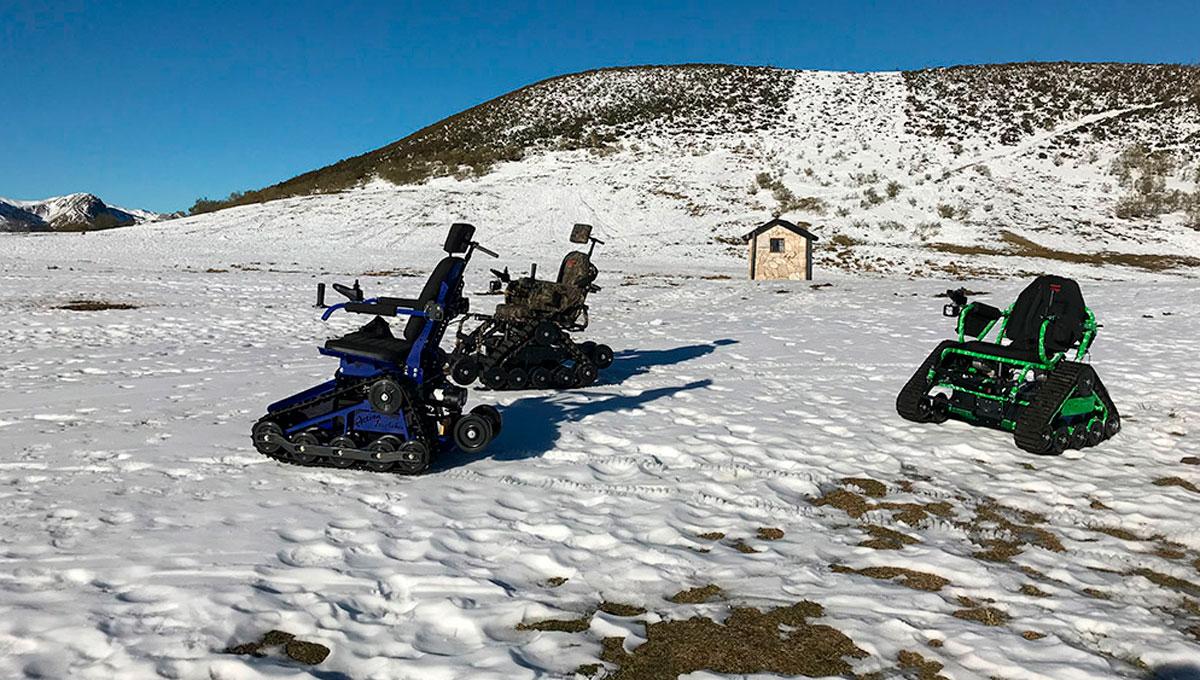 silla de ruedas nieve